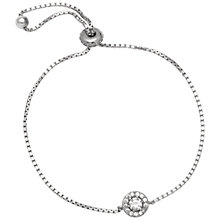 Buy Adele Marie Cubic Zirconia Pave Bracelet, Silver Online at johnlewis.com