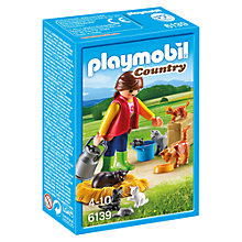 Buy Playmobil Country Woman with Cat Family Online at johnlewis.com