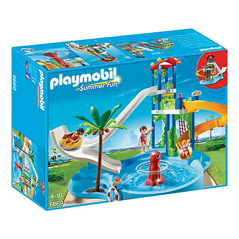Buy playmobil summer fun water park with slide john lewis for Piscine playmobil 5433