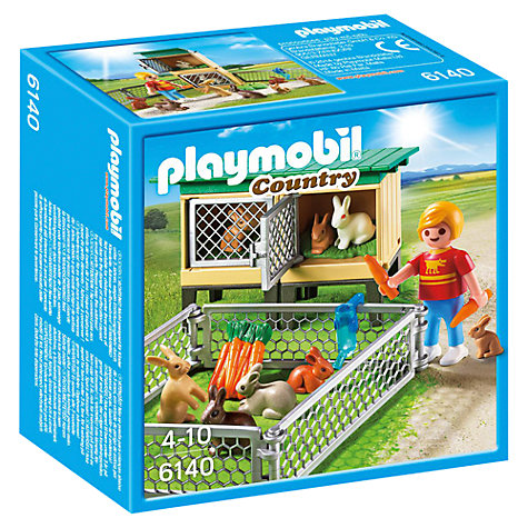 Buy Playmobil Country Rabbit Pen With Hutch Online at johnlewis.com