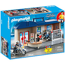 Buy Playmobil City Action Take Along Police Station Online at johnlewis.com