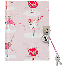 Buy Cath Kids Children's Ballerina Print Diary, Pale Pink Online at johnlewis.com