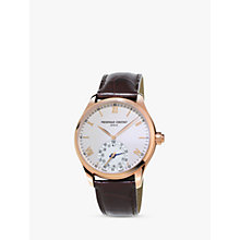 Buy Frédérique Constant FC-285V5B4 Men's Horological Smartwatch Leather Strap Watch, Brown/White Online at johnlewis.com