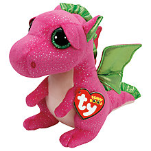 Buy Ty Beanie Boos Darla Dinosaur Soft Toy, 24cm Online at johnlewis.com