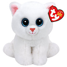 Buy Ty Beanie Babies Pearl Cat Soft Toy, 15cm Online at johnlewis.com