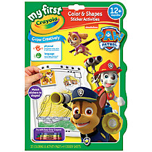 Buy Paw Patrol Colour and Shapes Sticker Activities Online at johnlewis.com