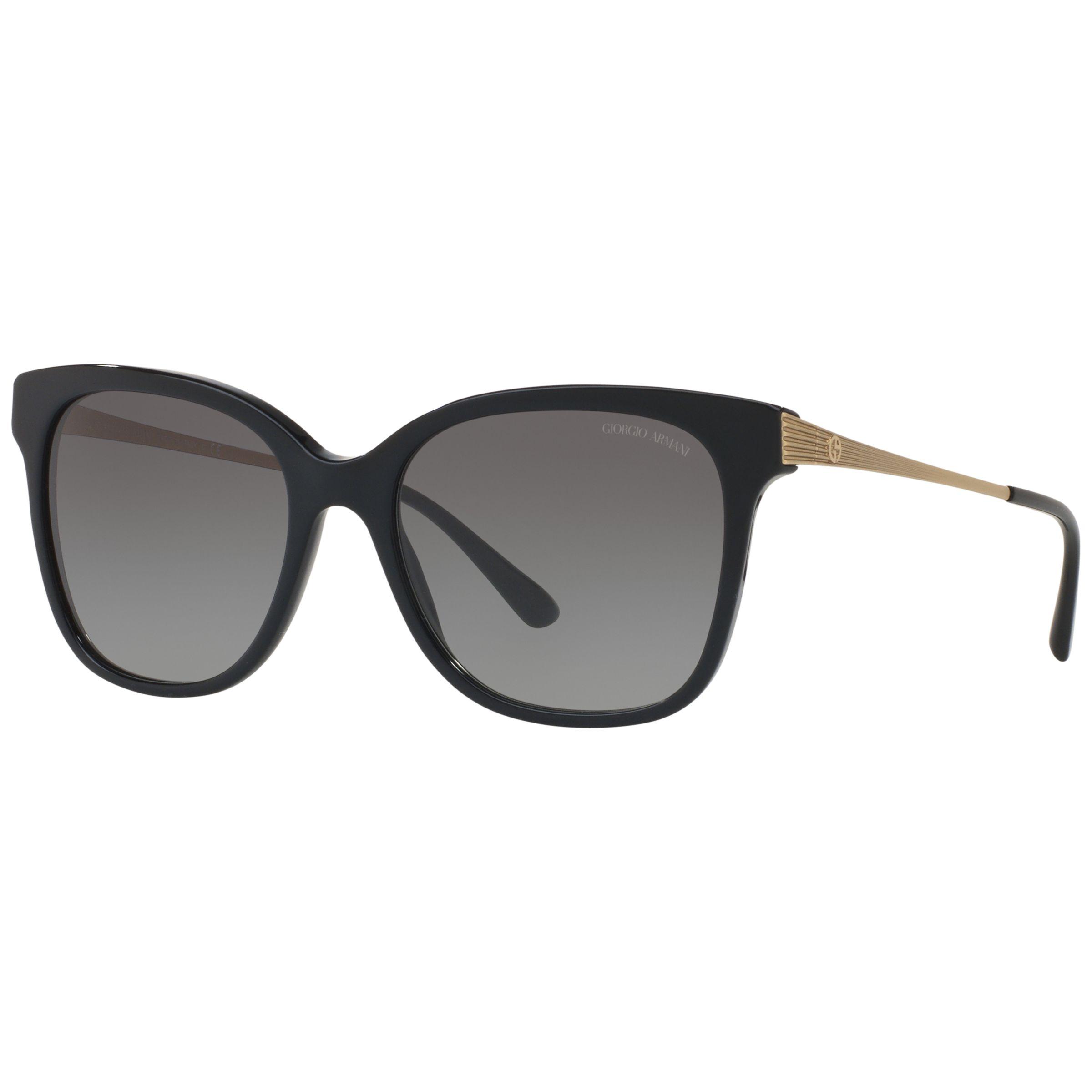 Giorgio Armani Giorgio Armani AR8074 Gradient Square Sunglasses, Black