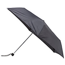 Buy John Lewis Super Slim Houndstooth Print Umbrella, Black/Grey Online at johnlewis.com