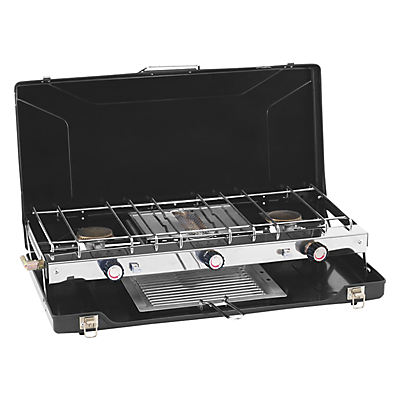 Outwell Appetiser Cooker Three-Burner Stove With Grill