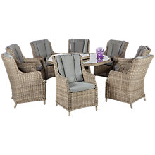 Buy Royalcraft Wentworth Highback Dining Set with Lazy Susan Online at johnlewis.com