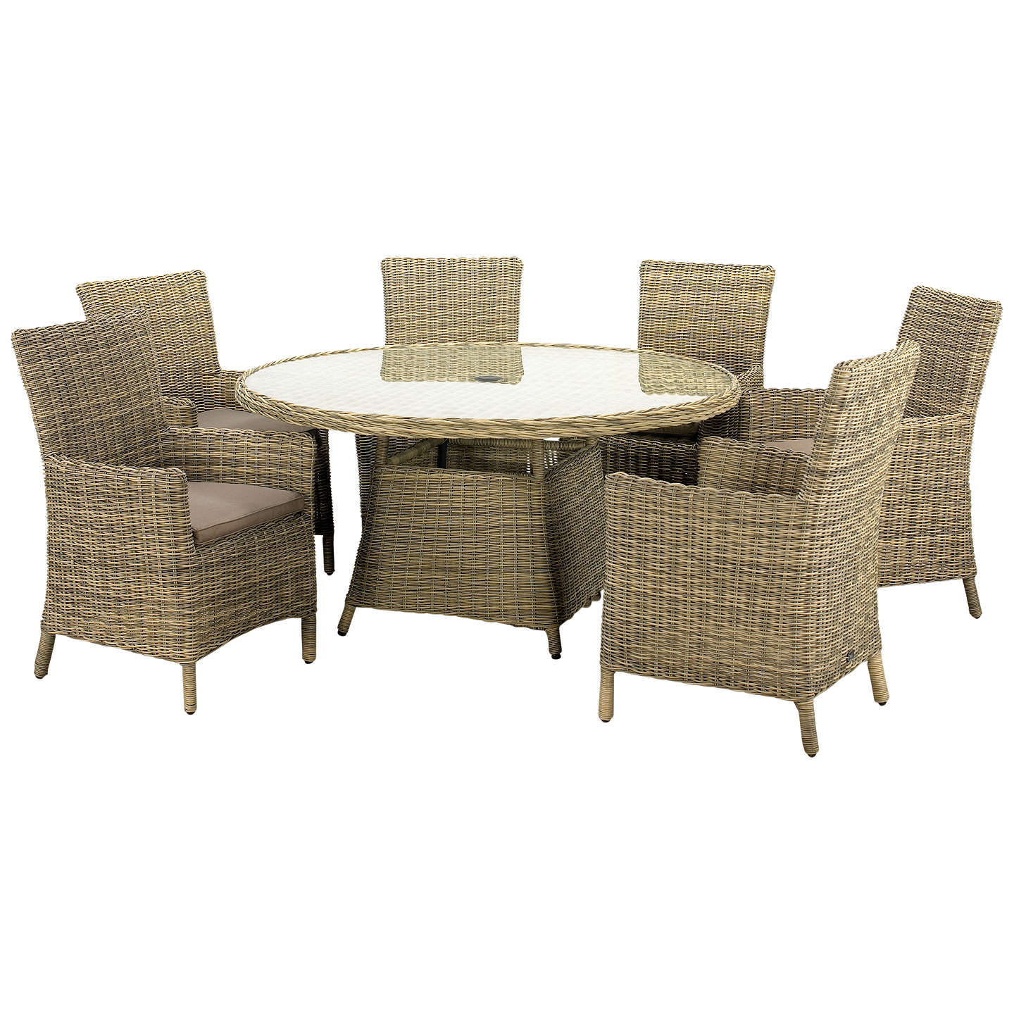 Royalcraft Wentworth Carver 6-Seater Garden Dining Table