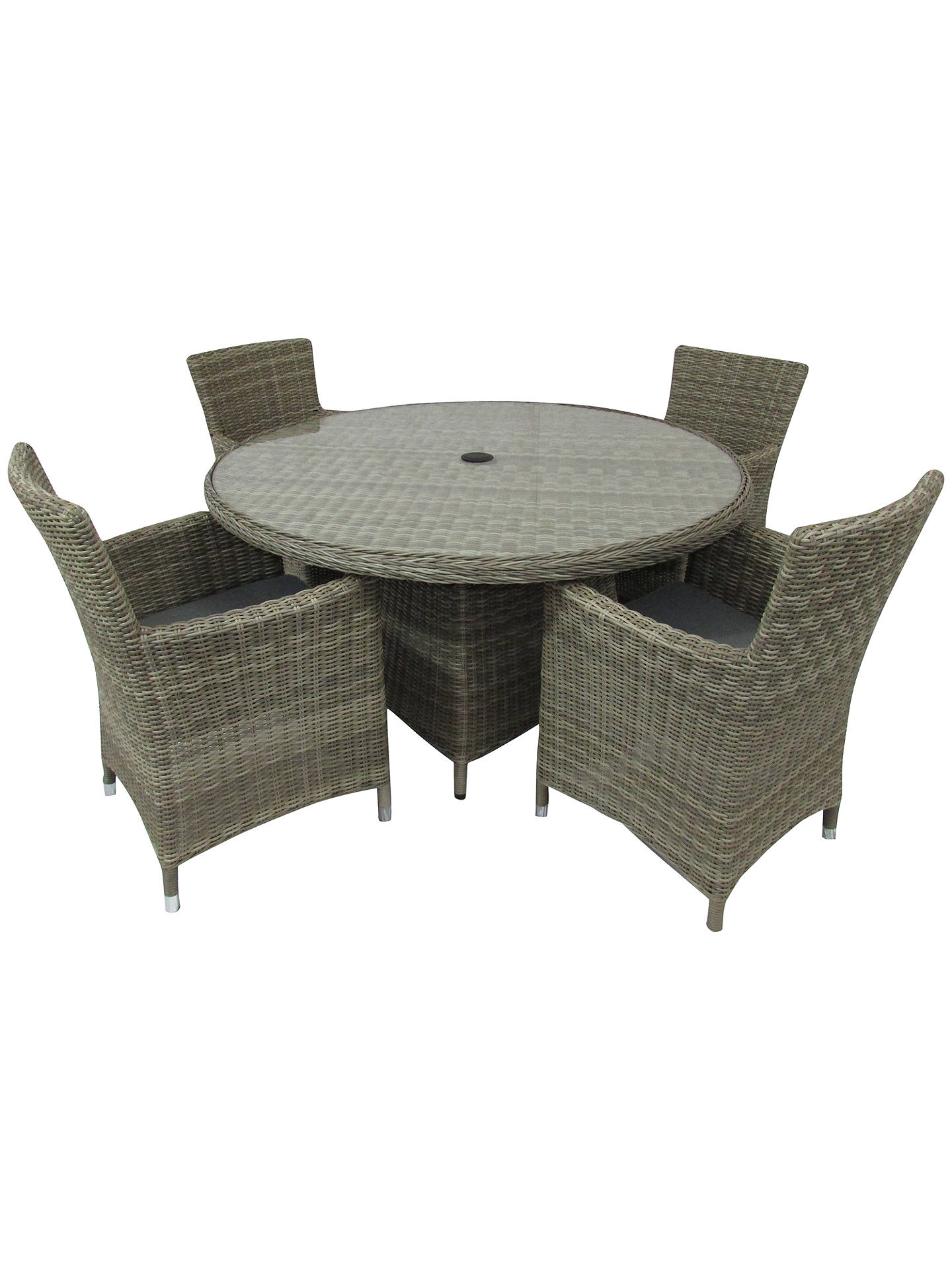 Buy Royalcraft Wentworth Carver 4-Seater Garden Dining Table and Chairs Set Online at johnlewis.com