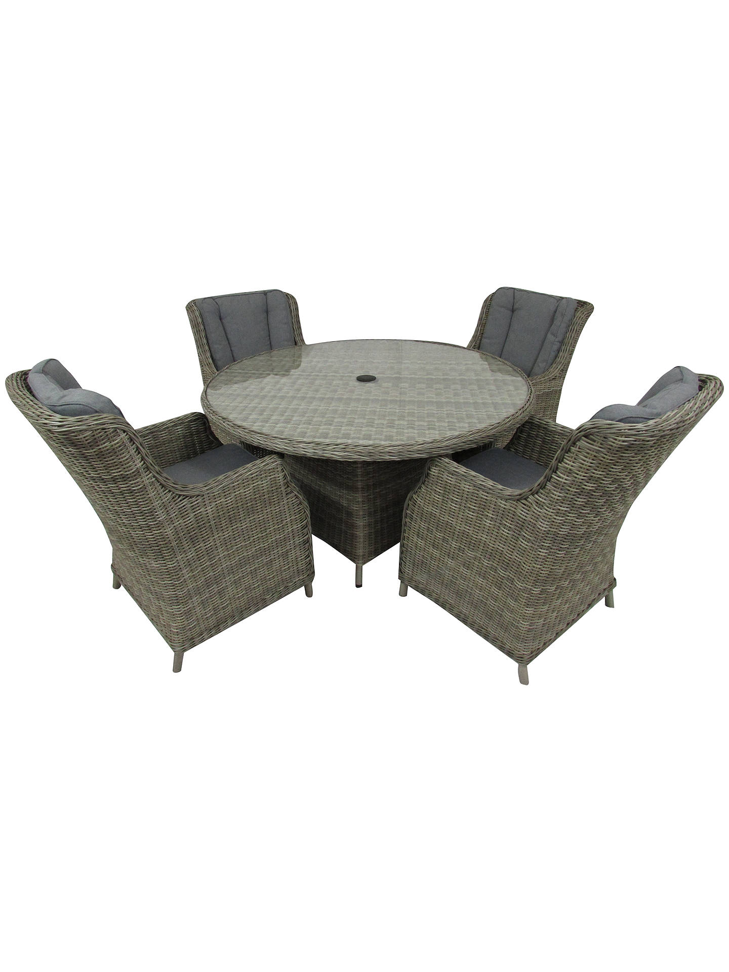 BuyRoyalcraft Wentworth 4-Seater Garden Comfort Dining Table and Chairs Set Online at johnlewis.com