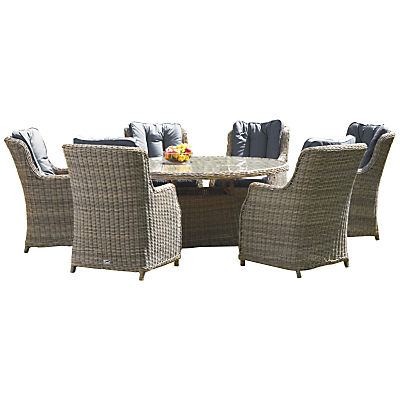 Royalcraft Wentworth Oval High Back 7-Piece Dining Set
