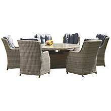 Buy Royalcraft Wentworth Oval High Back 7-Piece Dining Set Online at johnlewis.com