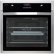 Buy John Lewis JLBIOS623 Built-In Multifunction Single Oven, Black/Stainless Steel Online at johnlewis.com