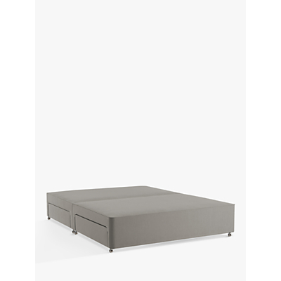 John Lewis Natural Collection Pocket Spring 4 Drawer Divan Storage Bed, Double, Canvas Steel