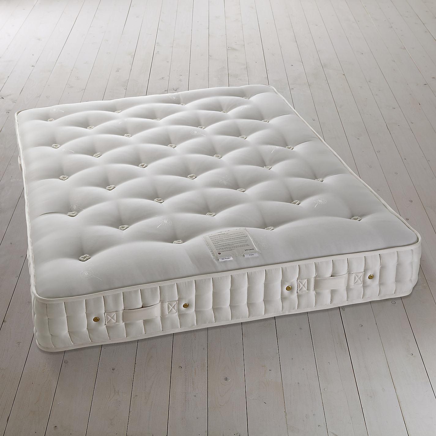 buy john lewis natural collection british fleece wool pocket spring mattress medium king