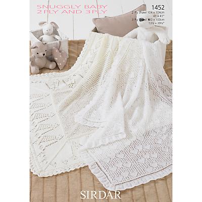 Sirdar Snuggly Baby Blanket Knitting Pattern, 1452