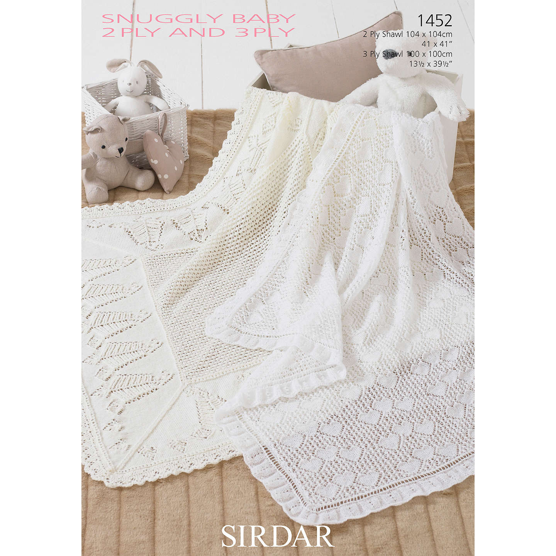 Sirdar Snuggly Baby Blanket Knitting Pattern, 1452 at John Lewis