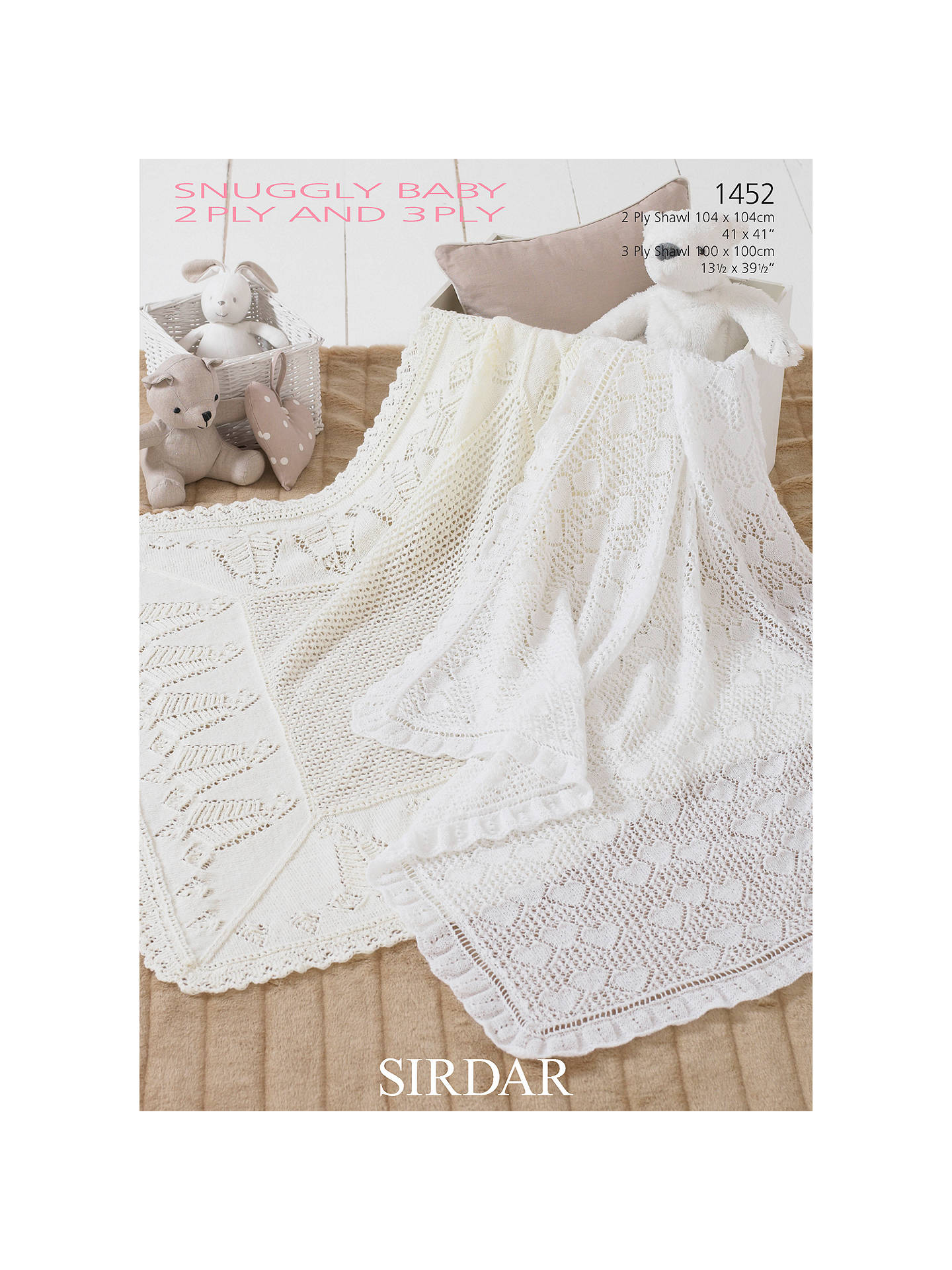 Sirdar Snuggly Baby Blanket Knitting Pattern 1452 At John Lewis