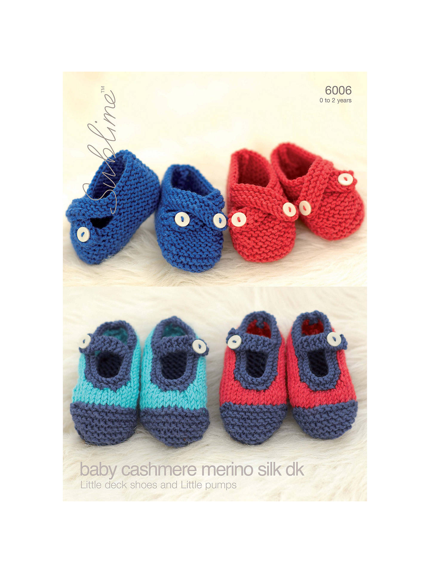 bb8cb6988 Sirdar Baby Cashmere Baby Shoes Knitting Pattern