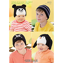 Buy Sirdar Snuggly Baby Bamboo DK Hats Knitting Pattern, 4623 Online at johnlewis.com