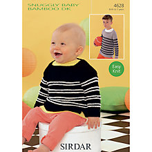 Buy Sirdar Snuggly Baby Bamboo DK Jumper Knitting Pattern, 4628 Online at johnlewis.com