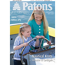 Buy Patons 100% Cotton 4 Ply Nautical Sweater and Cardigan Knitting Pattern, 4013 Online at johnlewis.com