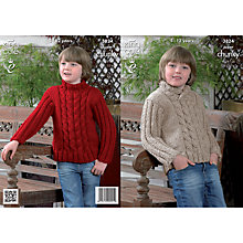 Buy King Cole Chunky Weight Roll Neck Jumper Knitting Pattern, 3824 Online at johnlewis.com