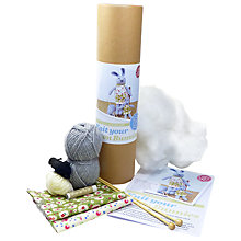 Buy The Crafty Kit Company Knit Your Own Bunnies Knitting Kit, Grey Online at johnlewis.com