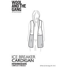 Buy Wool and the Gang Ice Breaker Cardigan Knitting Pattern Online at johnlewis.com