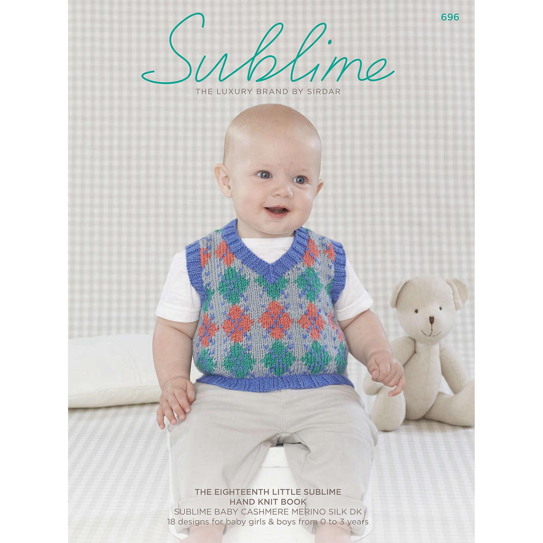 Sirdar Sublime Baby Knitting Pattern Booklet, 0696 at John Lewis