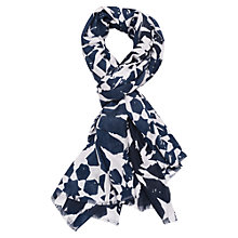 Buy French Connection Camille Medina Tile Scarf, Blue/White Online at johnlewis.com