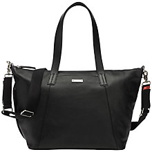 Buy Storksak Noa Leather Changing Bag, Black Online at johnlewis.com