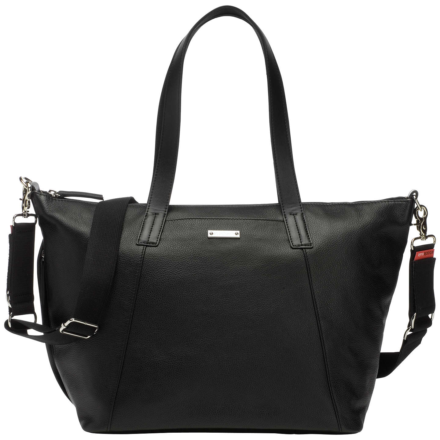BuyStorksak Noa Leather Changing Bag, Black Online at johnlewis.com