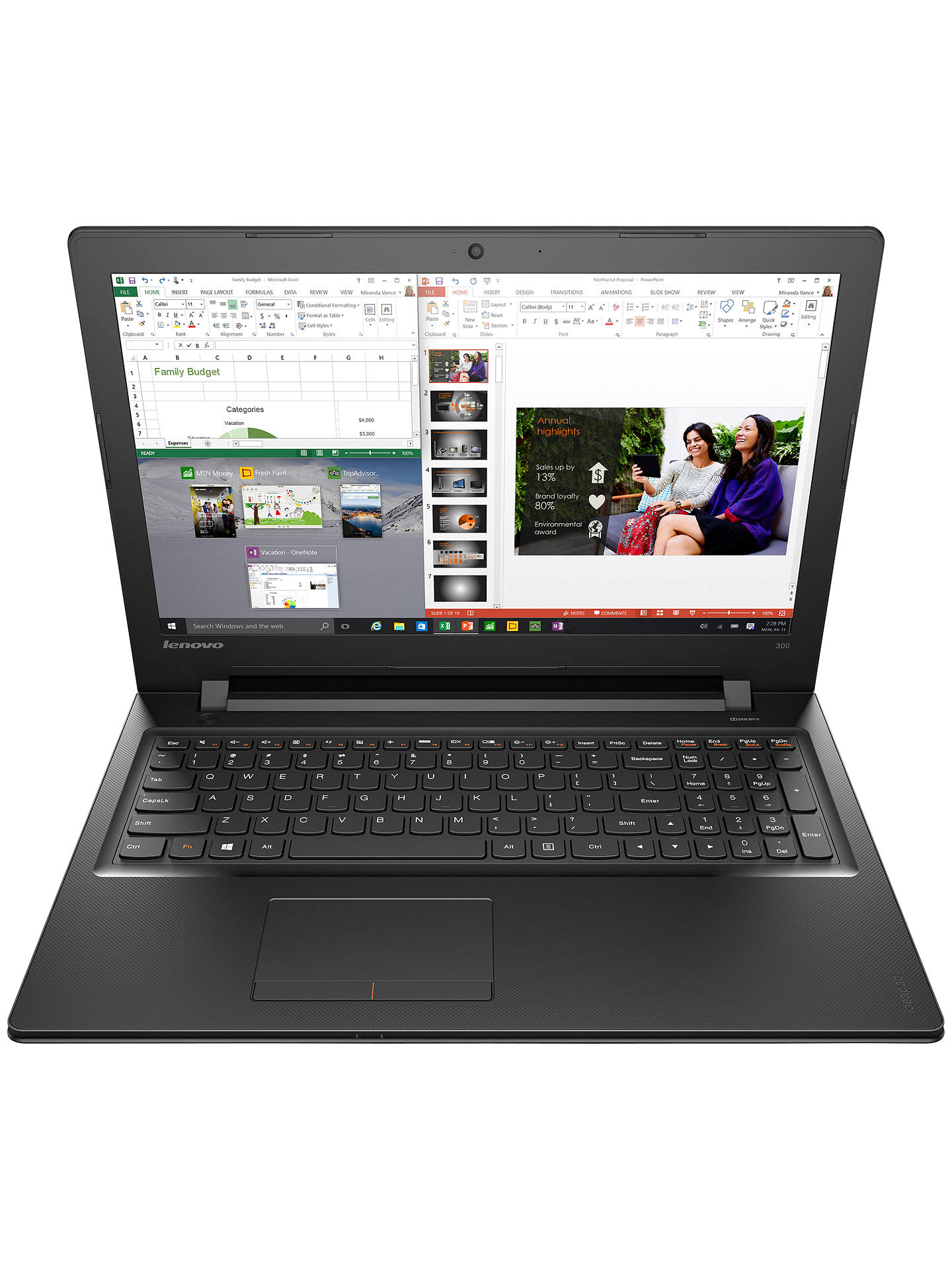 Lenovo Ideapad 300 Laptop Intel Core I5 8gb Ram 1tb 15 6 Black At John Lewis Partners