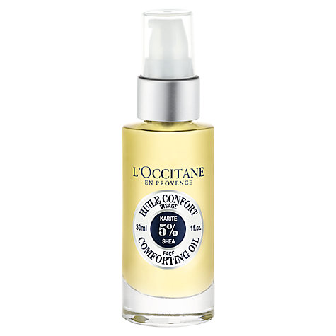Buy L'Occitane Shea Face Comforting Oil, 30ml Online at johnlewis.com