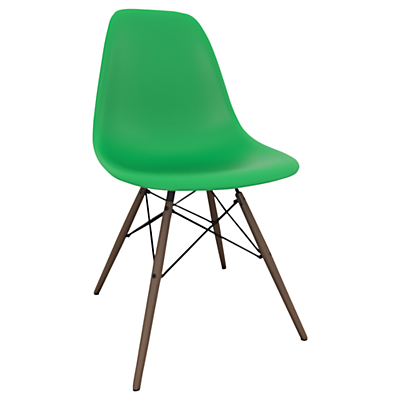 Vitra Eames DSW Side Chair, Dark Maple Leg
