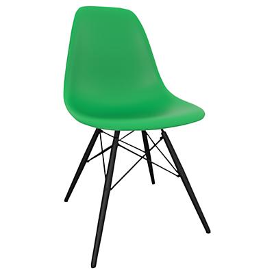 Vitra Eames DSW Side Chair, Black Maple Leg