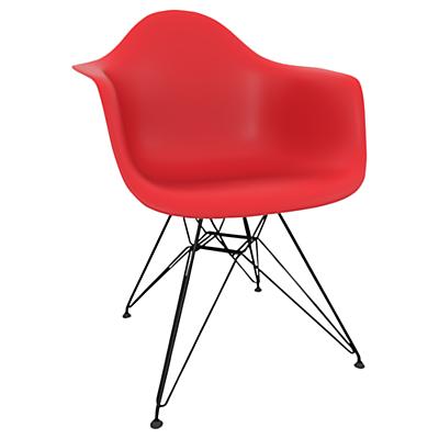 Vitra Eames DAR Armchair, Black Metal Leg