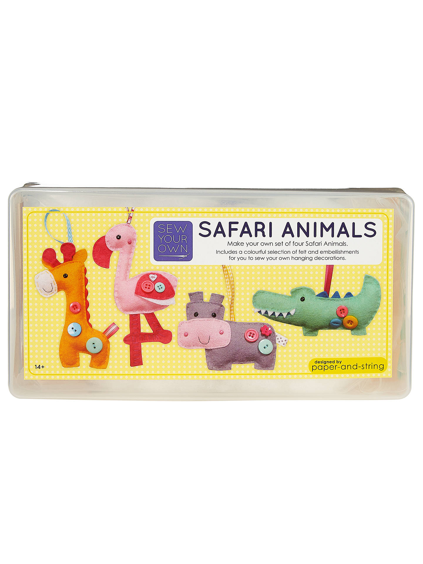BuyPaper and String Sew Your Own Safari Animals Kit Online at johnlewis.com