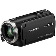 "Buy Panasonic HC-V180EB Camcorder, HD 1080p, 2.5MP Movie/10MP Still, 50x Optical Zoom, 90x Intelligent Zoom, 2.7"" Wide LCD Monitor Online at johnlewis.com"