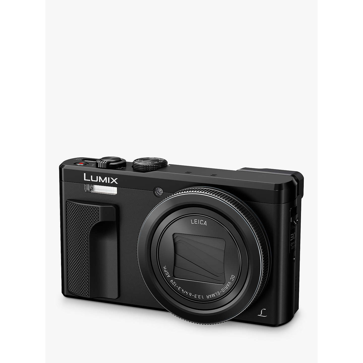 "BuyPanasonic Lumix DMC-TZ80EB Super Zoom Digital Camera, 4K Ultra HD, 18.1MP, 30x Optical Zoom, Wi-Fi, EVF, 3"" LCD Touch Screen, Black Online at johnlewis.com"