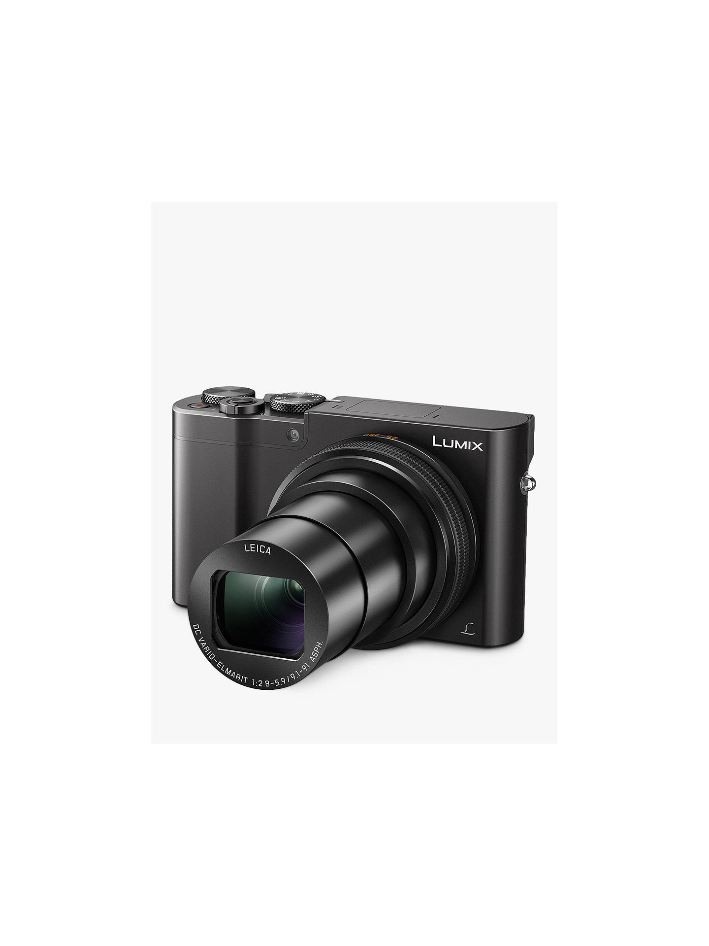 "BuyPanasonic Lumix DMC-TZ100EB Digital Camera, 4K Ultra HD, 20.1MP, 10x Optical Zoom, Wi-Fi, EVF, 3"" LCD Touch Screen, Black Online at johnlewis.com"