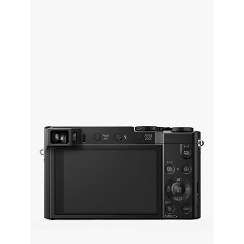 "Buy Panasonic Lumix DMC-TZ100EB Digital Camera, 4K Ultra HD, 20.1MP, 10x Optical Zoom, Wi-Fi, EVF, 3"" LCD Touch Screen Online at johnlewis.com"