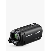 "Buy Panasonic HC-V380EB Camcorder, Wi-Fi, HD 1080p, 2.5MP Movie/10MP Still, 50x Optical Zoom, 90x Intelligent Zoom, 2.7"" Wide LCD Touch Monitor Online at johnlewis.com"