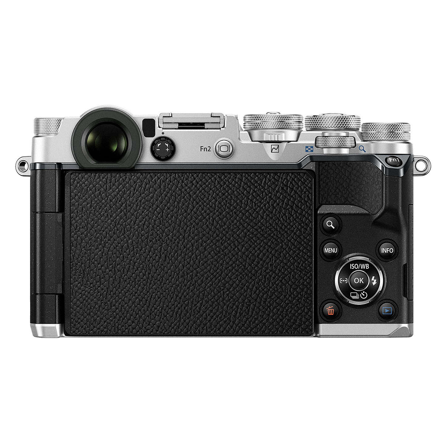 "BuyOlympus Pen F Compact System Camera With M.ZUIKO 17mm Prime Lens, HD 1080p, 20.3MP, Wi-Fi, Front Creative Dial, 5-Axis IS, 3"" Vari-Angle Touch Monitor, Silver Online at johnlewis.com"