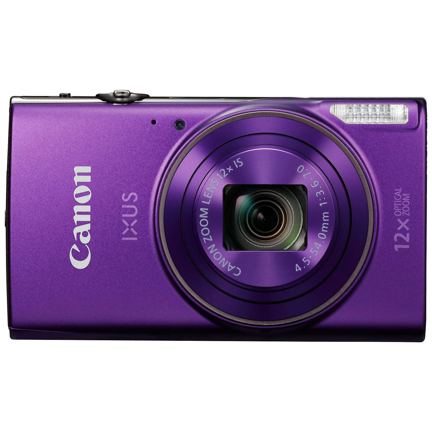 "BuyCanon IXUS 285 HS Digital Camera Kit, Full HD 1080p, 20.2MP, 12x Optical Zoom, 24x Zoom Plus, Wi-Fi, NFC, 3"" LCD Screen With Leather Case & 16GB SD Card, Purple Online at johnlewis.com"