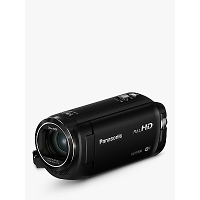 Panasonic HC-W580EB-K Camcorder, Wi-Fi, HD 1080p, High Dynamic Range 2.5MP Movie/10MP Still, 50x Optical Zoom, 90x Intelligent Zoom, 2.7 Wide LCD Touch Monitor